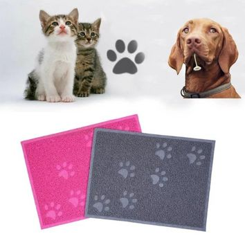 Colorful 40 x 30cm Pet Dog Cat Feeding Mat Pad Cute PVC Bed Dish Bowl Food Water Placemat Wipe Clean