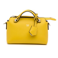 Fendi Yellow Mini Boston Bag