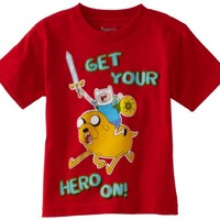 Adventure Time Boys' Get Your Hero On Tee
