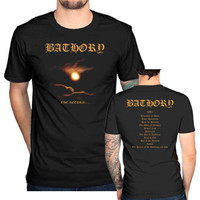 Bathory t shirt  men Twilight Of The God Blood two sides Short Sleeve casual printed tee USA plus size s-3xl