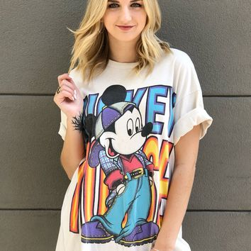 Cool Mickey Oversized Tee
