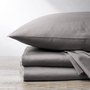 Mid-Gray 300 TC Organic Sateen Sheet Set