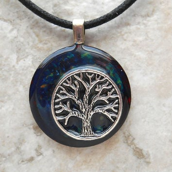 tree of life necklace: blue - celtic jewelry - tree necklace - elven jewelry - unique gift - nature necklace -  forest jewelry - mothers day
