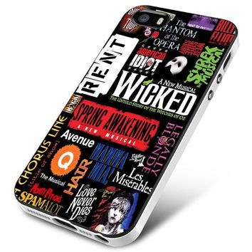 Broadway Musical Collage iPhone 5 | 5S | 5SE Case Planetscase.com