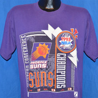 90s Phoenix Suns 1993 Western Conference Champs Basketball t-shirt Large