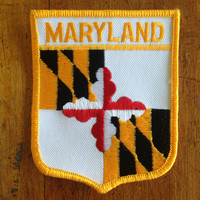 Maryland State Flag Vintage Travel Patch