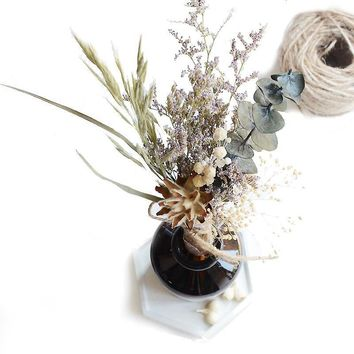 Natural dried flower bouquet mini bouquet home living room shop hotel bed and breakfast fresh flowers