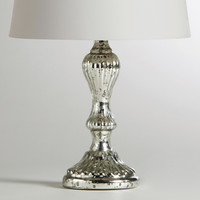 Mercury Glass Candlestick Accent Lamp Base - World Market