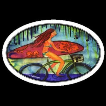 Beach Cruiser Stickers by Sophia Buddenhagen | RedBubble