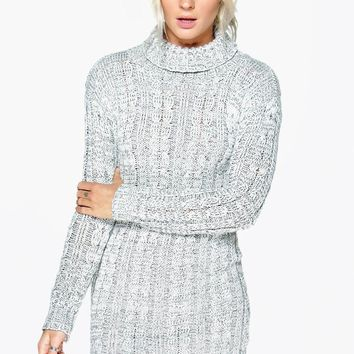 Lottie Cable Knit Jumper Dress | Boohoo