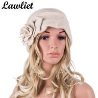 New Fashion Elegant Ladies Hats Winter Beret Hats for Women Casual Cloche Cap Female Wool Beanie Hats A376