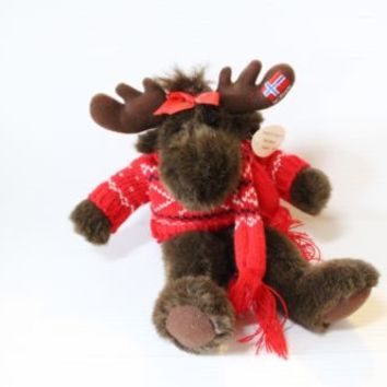 NORWAY NORGE STUFFED MOOSE Souvenir Keepsake Plush Animal Collectible