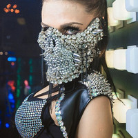 Skull Mask for Halloween, Rave, Party, Night Club, Dancers, DJ Masquerade Masks Evil Masks of Death Techno Mask Accessories Mask