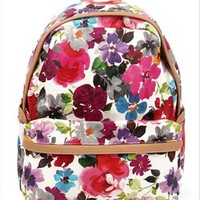 Flora Print Backpack from topsales