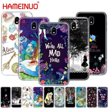 HAMEINUO Alice in Wonderland cover phone case for Samsung Galaxy J3 J5 J7 2017 J527 J727 J327 J330 J530 J730 PRO