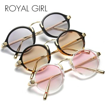 ROYAL GIRL New Sunglasses Women Brand Designer Shallow Light Color Gradient Lenses Glasses Vintage Mirror Shades Glasse ss802