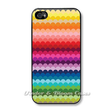 iPhone 5 case - Scallops in Jewel Tones - Fits iPhone 5, 4, 4s. FREE SHIPPING - Worldwide.
