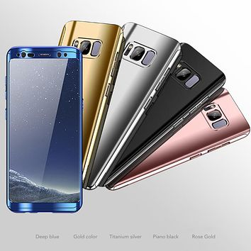 360 Laser Plating Case for Samsung Galaxy with Free Screen Protector Film