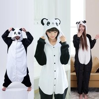 Cute Cartoon Kigurumi Panda Long Sleeve Hooded Onesuit Adult Women Animal Lovely/Red eyes/ Kungfu Panda Pajamas