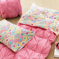 Pin Tuck Sleeping Bag + Pillowcase, Ogee