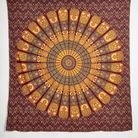 Boho It's Wall for You Tapestry in Burgundy by Karma Living from ModCloth