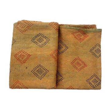 Vintage Kantha Quilt, Hippie Kantha Throw, Ethnic Quilt, Reversible Quilt With Beautiful Handwork, Antique Throws, Earthy Color Quilt