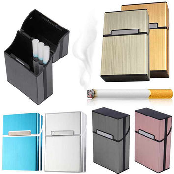 Cigar Cigarette Case Light Aluminum Cigars Tobacco Holder Pocket Box Storage Container TB Sale