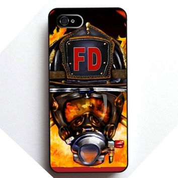 Firefighters - Helmet and Flames Mobile Phone Case
