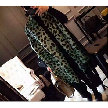 Alexander McQueen autumn and winter Milan catwalk leopard scarf scarves F-YH-FTMPF