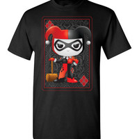 Harley Quinn Funko Style Playing Card T-Shirt