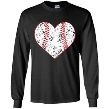 Baseball Heart T Shirt, Gift for Softball Mom or Dad, Team