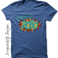 Class of 2030 Shirt - Kindergarten Graduation Tshirt / Kids High School Graduation Year Top / Superhero Tshirt / Kids Kindergarten Tshirt