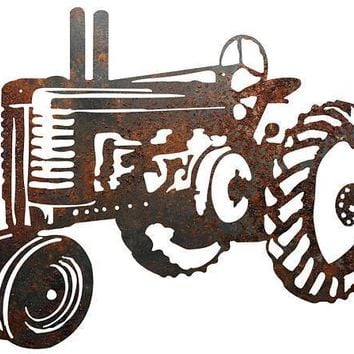 Rustic Home Decor Tractor Metal Sign