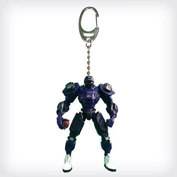 Baltimore Ravens Keychain Fox Robot 3 Inch Mini Cleats