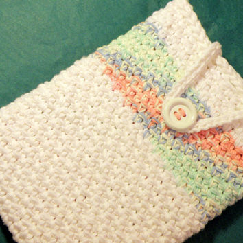 Apple iPad Tablet Cover Sleeve, Universal Tablet Case, Deluxe Double Thick Crochet Cotton Tablet Sleeve