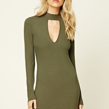 Cutout High-Neck Dress
