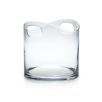 Tiffany & Co. -  Ice bucket in crystal with handles.