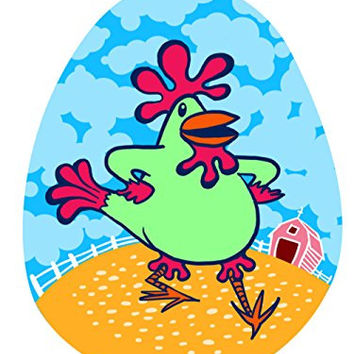 'Funky Dancin' Chicken' Funny Farm Animal 18x24 - Vinyl Print Poster