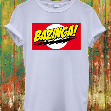 Bazinga Flash Big Bang Theory Sheldon Cooper Dope Indie Swag Geek Chanel Celine Paris Hippie Comme Des Fuckdown Men Women Unisex Top T-Shirt