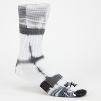 Nike Sb Tie Dye Mens Dri-Fit Crew Socks White/Black One Size For Men 25413416801