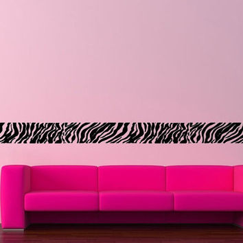 Modern Wall Decor Vinyl Sticker Room Decal Art Tribal Zebra Border Abstract Line 935