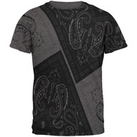 Bandana Paisley All Over Dark Heather Adult T-Shirt