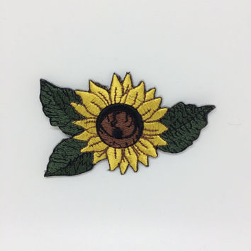 Sunflowers Embroidered Iron On Patch