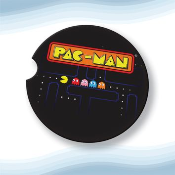 Pacman Car Cup Holder Coasters Sandstone (Set of 2)