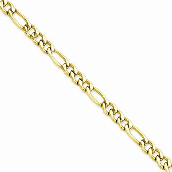 Men's Stainless Steel IP Gold-plated Figaro Chain Necklace