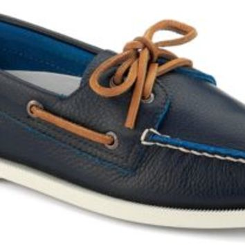 Sperry Top-Sider Authentic Original Two-Tone 2-Eye Boat Shoe NavyLeather, Size 11M  Men's Shoes
