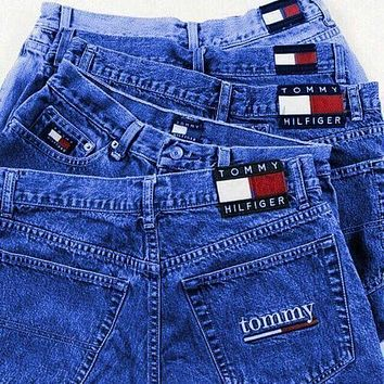 DCCKR2 Tommy Jeans Tommy Hilfiger Shorts Jeans Women High Waist Denim Shorts B-KWKWM Dark blue F/A