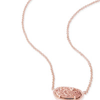 Kendra Scott Elisa Rose Gold Drusy Rose Gold Necklace