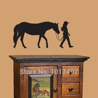 Horse and Rider vinyl wall decal stickers