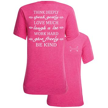 Southern Couture Lightheart Think Deeply Triblend Back Print T-Shirt